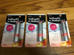 Lot Of 3 ChapStick Total Hydration Lip Balm-Sweet Peach Non-