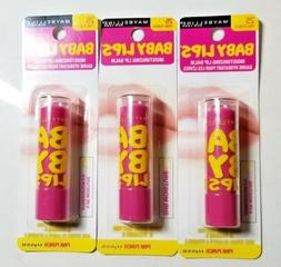 LOT OF 3 X MAYBELLINE NEW YORK BABY LIPS MOISTURIZING LIP BA