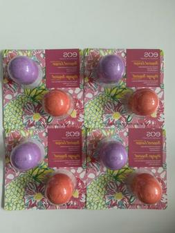 Lot of 4 2pk EOS Tropical Escape Lip Balm Pink Coconut & Isl