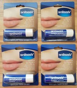 Lot Of 4) Vaseline Lip Balm Therapy 4.8 g  Original Petroleu