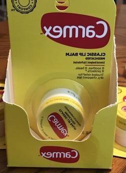 Lot X 3 CARMEX Original Lip Balm Moisturizer Jar Pot 0.25 oz