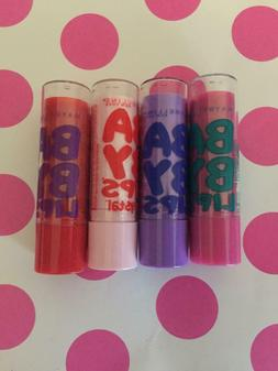 Maybelline BABY LIPS Lip Balm Lot of 4 Different Flavors