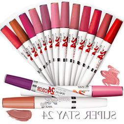 Maybelline Superstay 24 Color; 2-step Lip Color & Balm Topco