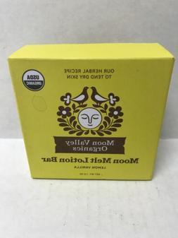 Moon Valley Organics Moon Melt Lotion Bar Moisturizer, Lemon