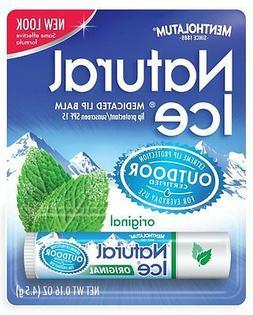 MENTHOLATUM NATURAL ICE MEDICATED ORIGINAL SPF 15 LIP PROTEC