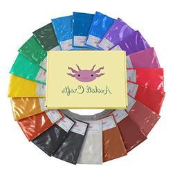 Mica Powder Set- Cosmetic Grade Pearl Pigment Powder for Sli