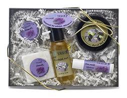 All Natural Mild Lavender Jojoba Skin Care Sampler Pack, 5 i