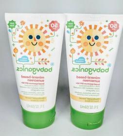 2 Babyganics Mineral Based Sunscreen SPF 50+ Fragrance Free