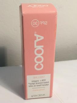 Coola Mineral Liplux SPF 30 Tan Line Honey Peach 0.15 oz Tin