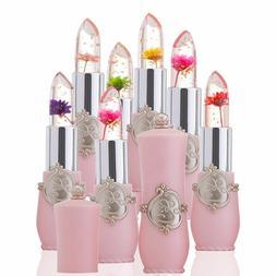 Moisturizer Crystal Jelly Flower Lipstick Lip Balm Temperatu