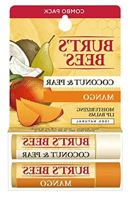Burt's Bees 100% Natural Moisturizing Lip Balm, Coconut & Pe