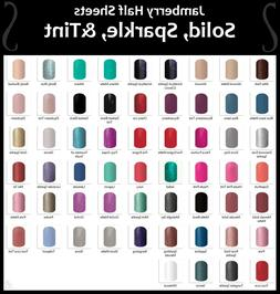 Jamberry Nail Wraps In-Stock Selection of SOLIDS SPARKLES &