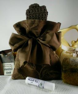 Artisan Gift Bag Set Natural Milk Soap, Lip Balm Felted Soap