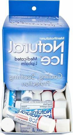 Mentholatum Natural Ice Medicated Cherry Lip Balm 48 Count C