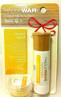 Raw Sugar Natural Lip Balm & Bonus Scrub Pack Lemon Sugar