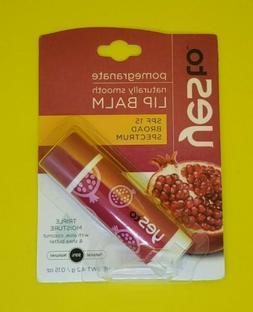 naturally smooth lip balm pomegranate