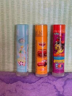 Avon Naturals Kids Lip Balm -CHOOSE 1-Disney Cars-Fairy Tink