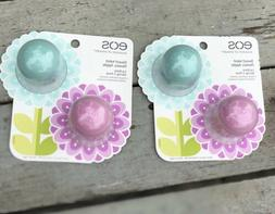 NEW 2018 EOS Spring Lip Balm Limited 2 Pack Honey Apple&Swee