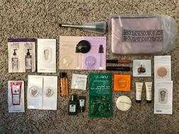 NEW 25 Pc Beauty Box Lot Skincare Hair Makeup Sample Sephora