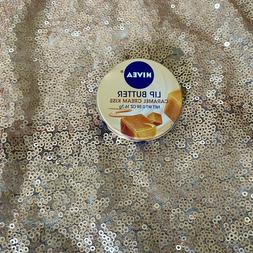 NEW!  Nivea Caramel Cream Kiss LIP BUTTER Tan Brown Balm Tin