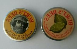 NEW Burt's Bees Hand Salve and Lemon Butter Cuticle Cream Ti