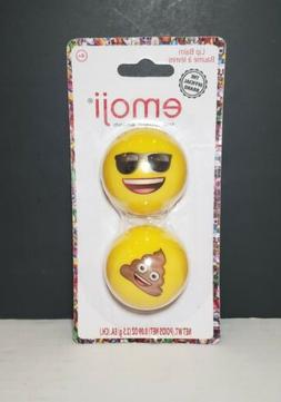 New Emoji Lip Balm Balls Fruity Flavor 2 In A Pack