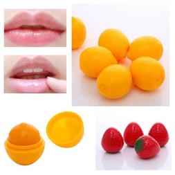 Cute Moisturizing Lip Balm Care Fruit Flavor Cream Ball Box