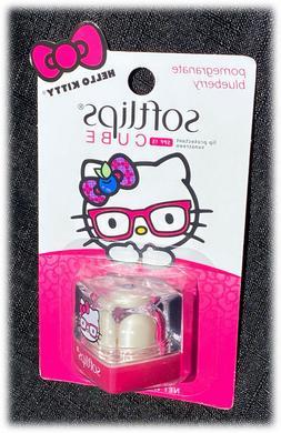 NEW Softlips Hello Kitty Pomegranate Blueberry Lip Balm Soft