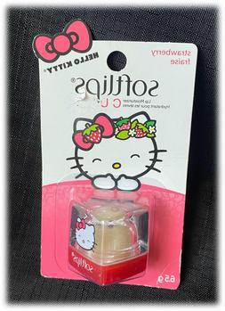NEW Softlips Hello Kitty Strawberry Lip Balm Soft Lips Cube