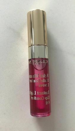 NEW Clarins Instant Light Lip Comfort Oil 02 raspberry trave