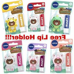 NEW NIVEA Balm Care x Line Friends Free Lip Holder Dino Snow