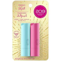 NEW EOS Lip Balm Stick 2ct Super Soft Shea Cherry & Bright C