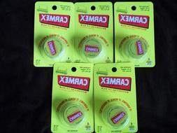 NEW LOT 5 Carmex Original Lip Balm Jars tubes great for cold