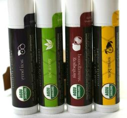 NEW Lot of 4 Beauty By Earth Exotic Multi-Pack Beeswax Lip B