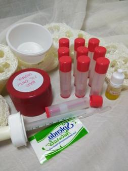 New! Make Your Own Lip Balm Making Kit Orange E/O DIY Organi