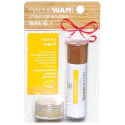 NEW Set of 2 RAW SUGAR Natural LIP Balm + Scrub Lemon Sugar