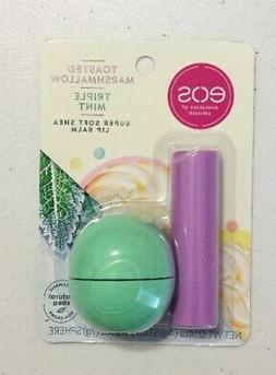 New EOS Toasted Marshmallow Stick & Triple Mint Lip Balm Sph