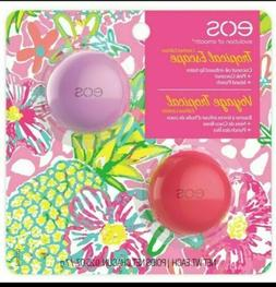 NEW eos Tropical Escape Lip Balm 2 Pack Pink Coconut and Isl
