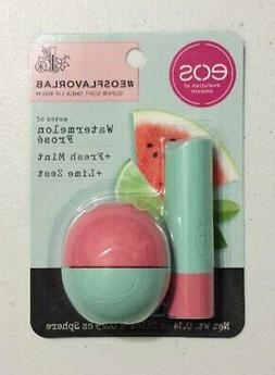New EOS Watermelon Frose + Fresh Mint + Lime Zest Lip Balm S