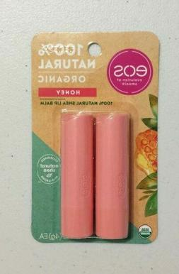 New X2 Eos Lip Balm Sticks Honey 100% Natural