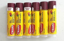 New X6 Carmex Moisturizing lip balm Click Stick Cherry SPF 1