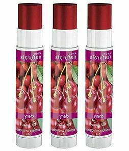 Avon New York Naturals Lip Balm Cherry - Pack of 3