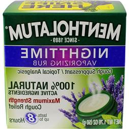 Mentholatum Nighttime Vaporizing Rub Maximum Strength Cough