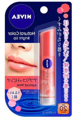Nivea Natural Color Lip Bright Up Apricot Pink Lip Balm Japa
