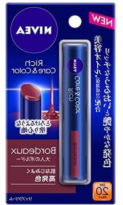 Nivea Rich care & color lip Bordeaux Balm Japan import NEW