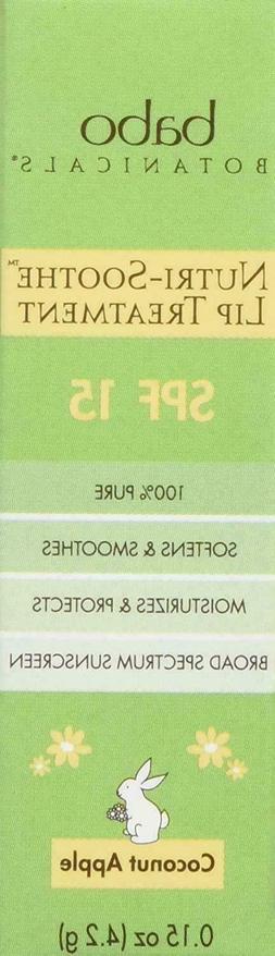 Babo Botanicals Nutri-Soothe Lip Treatment SPF 15, 0.15 Oz