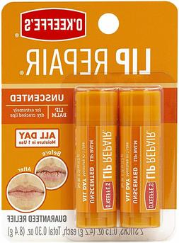O'Keeffe's Unscented Lip Repair Lip Balm for Dry, Cracked Li