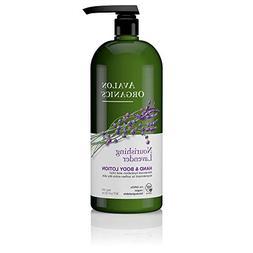 Avalon Org Hnd N Body Lotion 32 fl oz Lavender