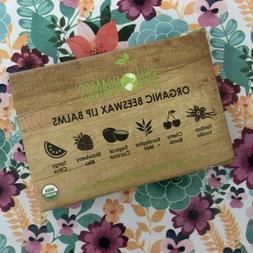 Sky Organics Organic Beeswax Lip Balm 6 Pack Assorted Flavor