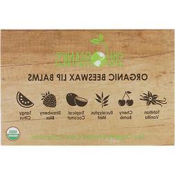Sky Organics  Organic Beeswax Lip Balms Set  6 Pack   15 oz